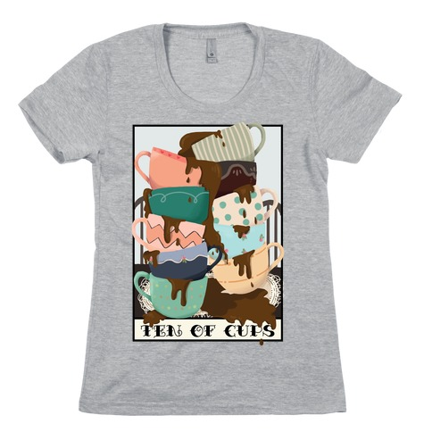 Ten Of Cups (Coffee) Tarot Card Womens T-Shirt