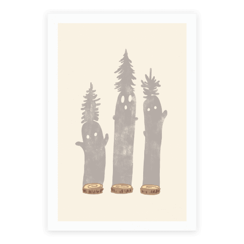 Friendly Tree Spirits Poster