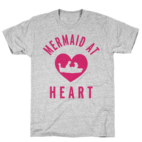 Mermaid At Heart (Ariel Edition Sweater) Mens T-Shirt
