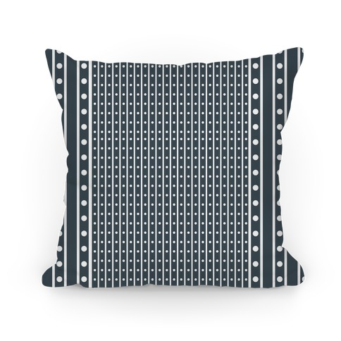 Black and White Stripes and Polka Dots Pillow