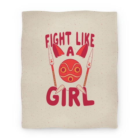 Fight Like A Girl San Parody Blanket