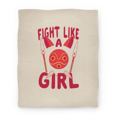 Fight Like A Girl San Parody Blanket