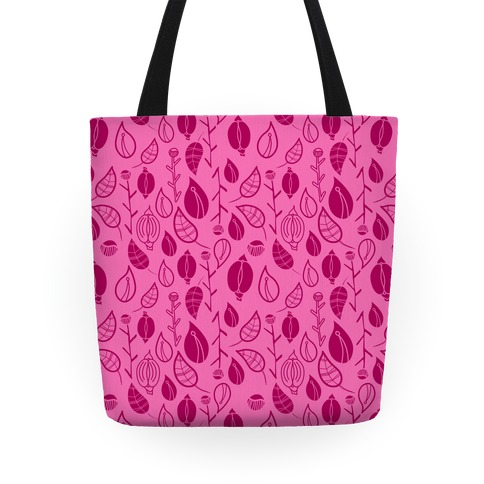 Florals Pattern (Pink) Tote