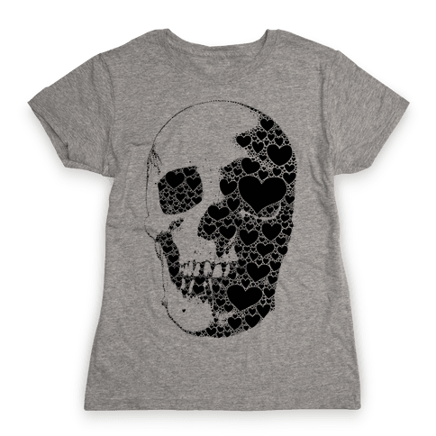 Heart Skull Womens T-Shirt