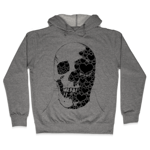 Heart Skull Hooded Sweatshirt