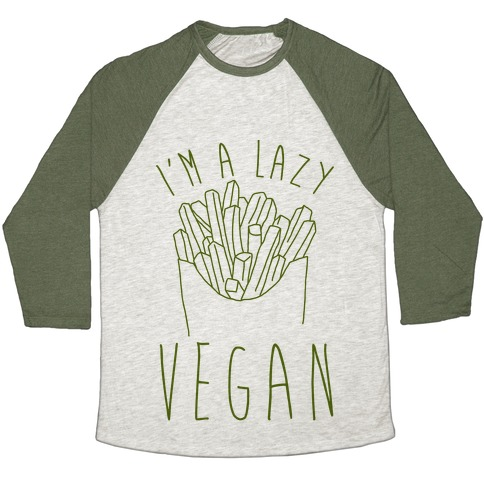 Lazy Vegan Baseball Tee