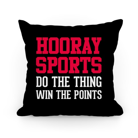 Hooray Sports Pillow
