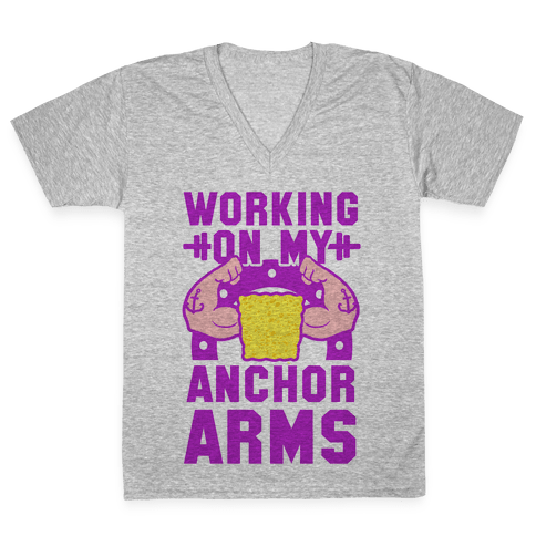Working on My Anchor Arms V-Neck Tee Shirt