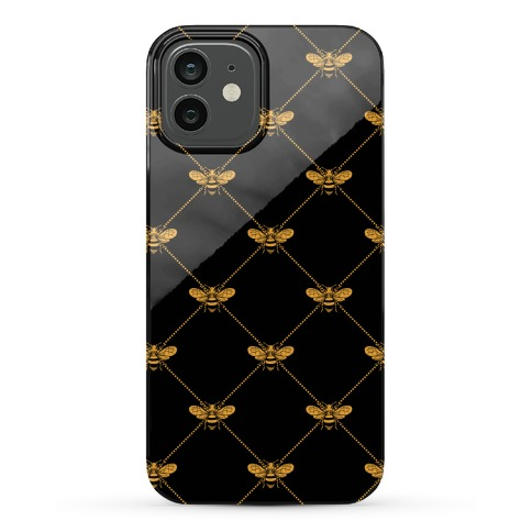 Regal Golden Honeybee Pattern Phone Case
