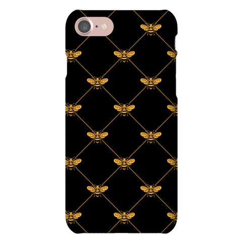 Regal Golden Honeybee Pattern Phone Case