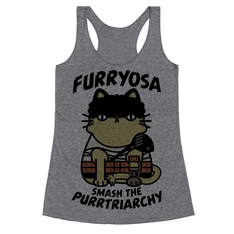 Furryosa Smash the Purrtriarchy Racerback Tank Top