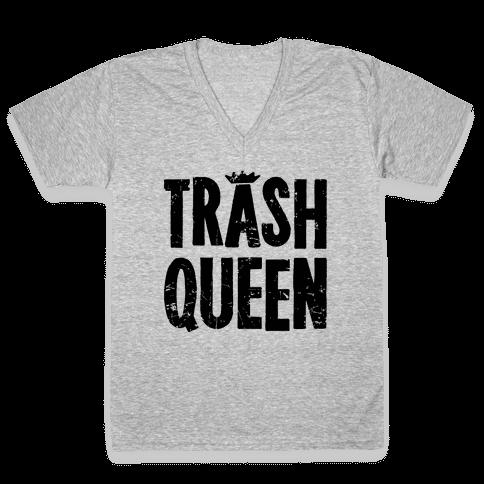Trash Queen V-Neck Tee Shirt