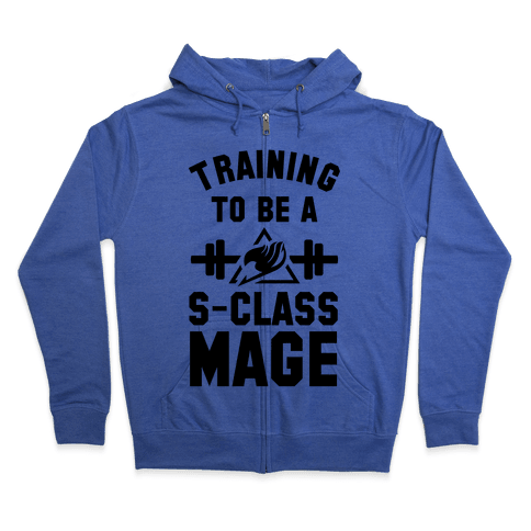 Training to Be a S-Class Mage Zip Hoodie
