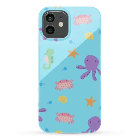 Sea Creature Pattern Phone Case