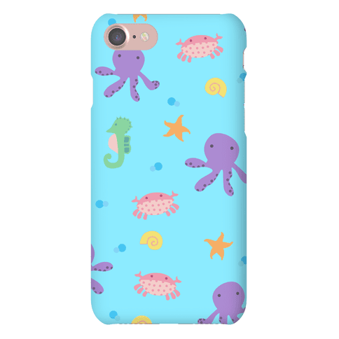 Sea Creature Pattern Phone Case