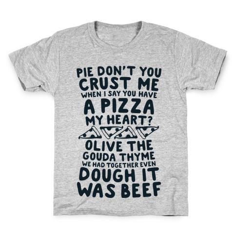 A Pizza My Heart Kids T-Shirt