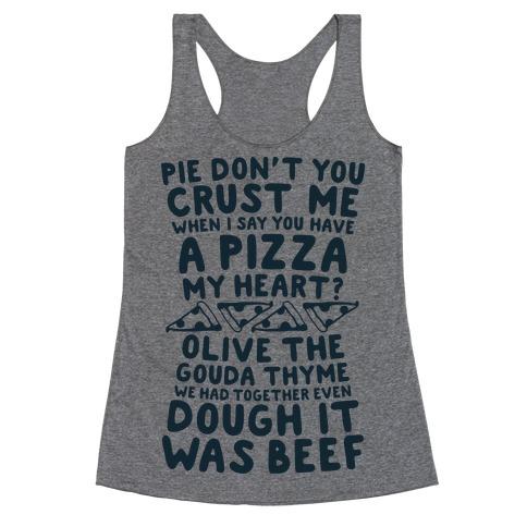 A Pizza My Heart Racerback Tank Top