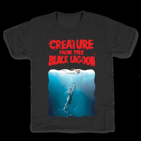 Black Lagoon (Jaws Parody) Kids T-Shirt