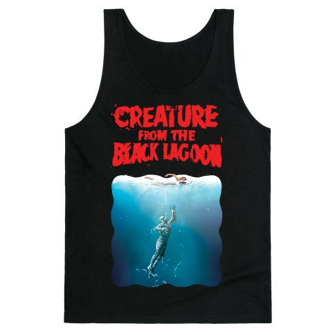 Black Lagoon (Jaws Parody) Tank Top