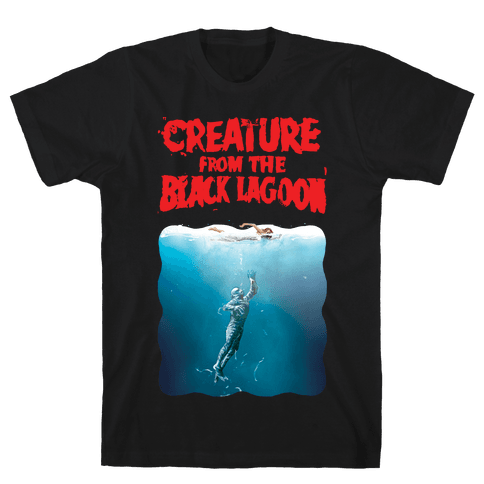 Black Lagoon (Jaws Parody) Mens T-Shirt