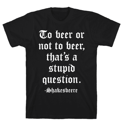 Shakesbeere Mens T-Shirt