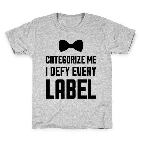 I Defy Every Label Kids T-Shirt