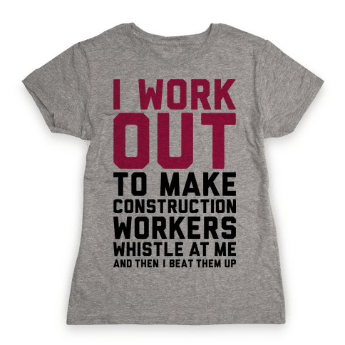 Construction Workers Womens T-Shirt