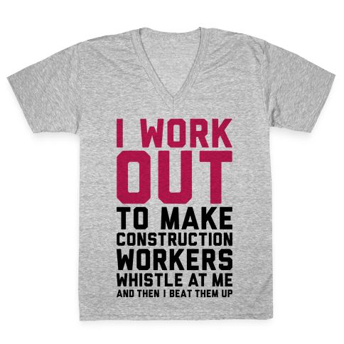 Construction Workers V-Neck Tee Shirt