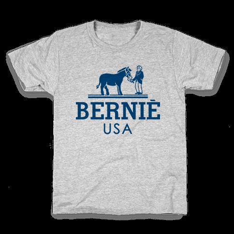 Bernie Sanders USA Fashion Parody Kids T-Shirt