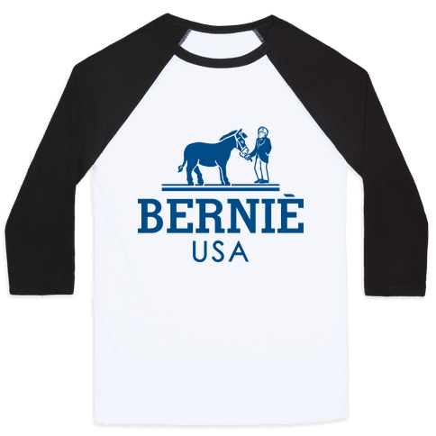 Bernie Sanders USA Fashion Parody Baseball Tee
