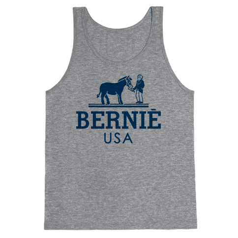 Bernie Sanders USA Fashion Parody Tank Top