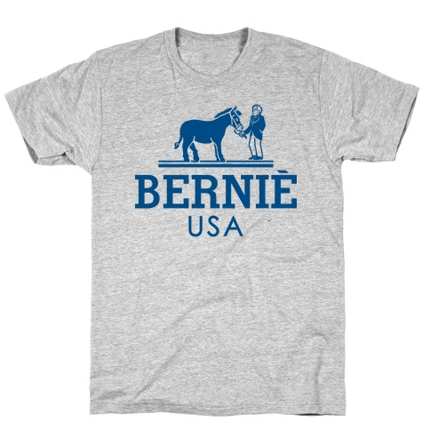 Bernie Sanders USA Fashion Parody Mens T-Shirt