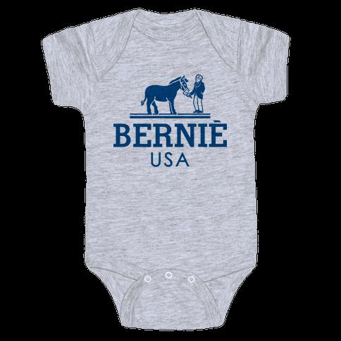 Bernie Sanders USA Fashion Parody Baby Onesy