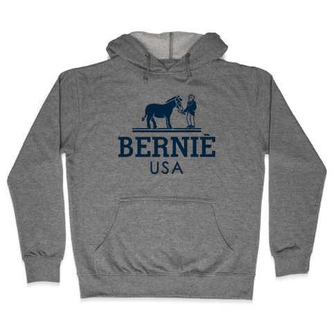 Bernie Sanders USA Fashion Parody Hooded Sweatshirt