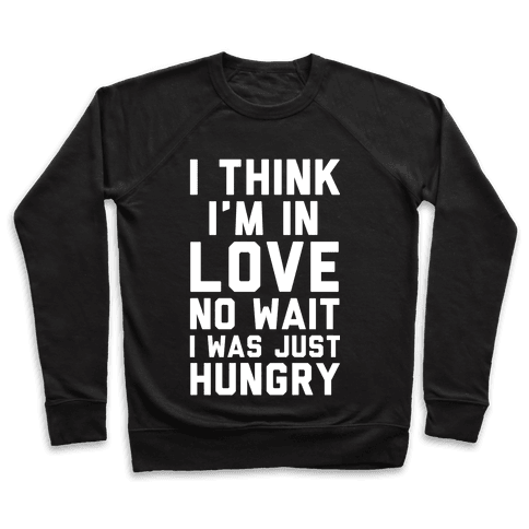 I Think I'm In Love No Wait No I Was Just Hungry Pullover