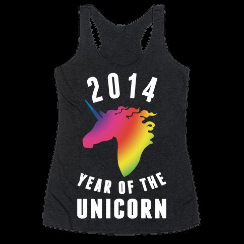 2014 Year of the Unicorn Racerback Tank Top