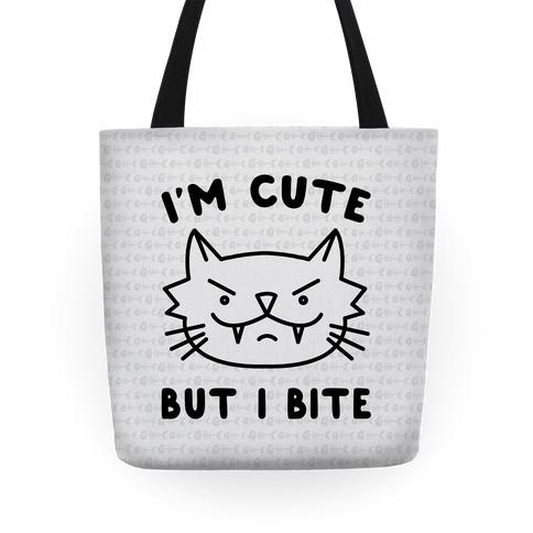 I'm Cute But I Bite Tote