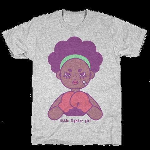 Little Fighter Girl Mens T-Shirt
