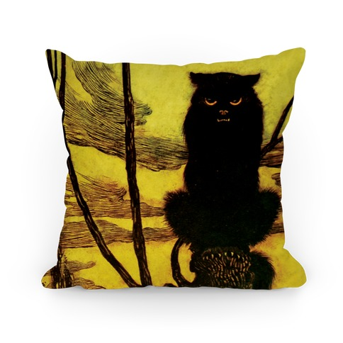 Black Cat Pillow Pillow