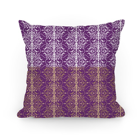 Purple and Gold Medieval Ombre Pattern
