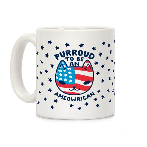 Purroud to be an Ameowrican Coffee Mug