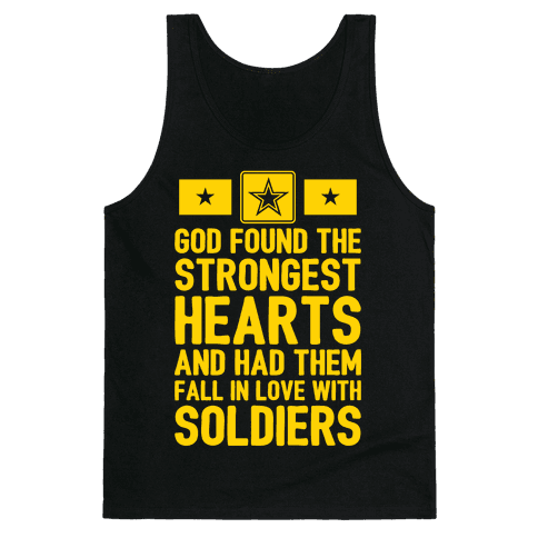 God Found The Strongest Hearts (Army) Tank Top