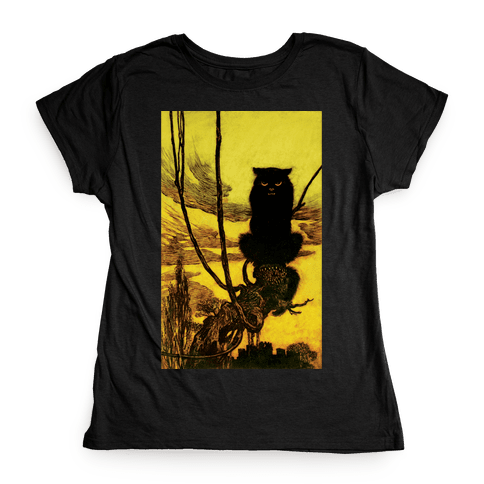 Black Cat Womens T-Shirt