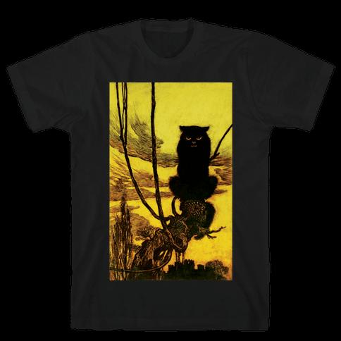 Black Cat Mens T-Shirt