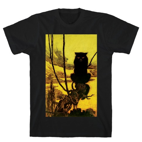 Black Cat Mens T-Shirt