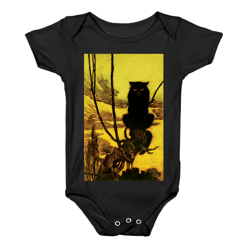 Black Cat Baby Onesy