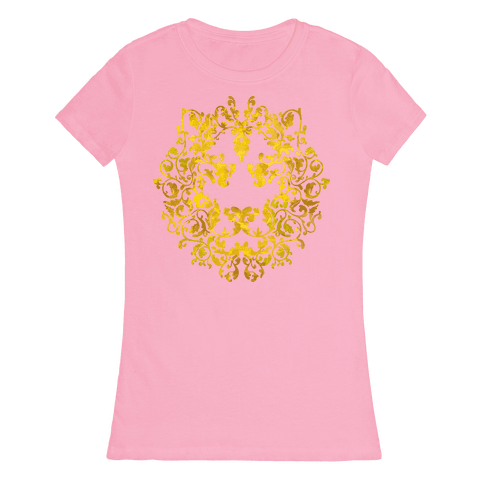 Floral Lion Womens T-Shirt