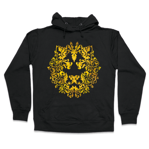 Floral Lion Hooded Sweatshirt
