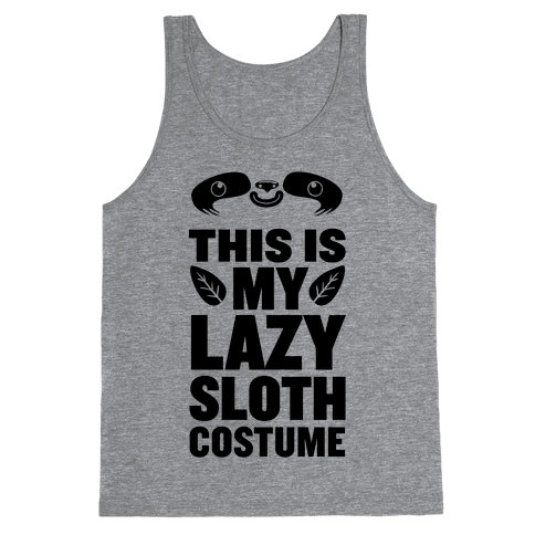 Lazy Sloth Costume Tank Top