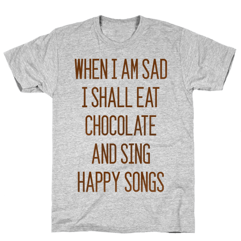 Get Sad Eat Chocolate Mens T-Shirt